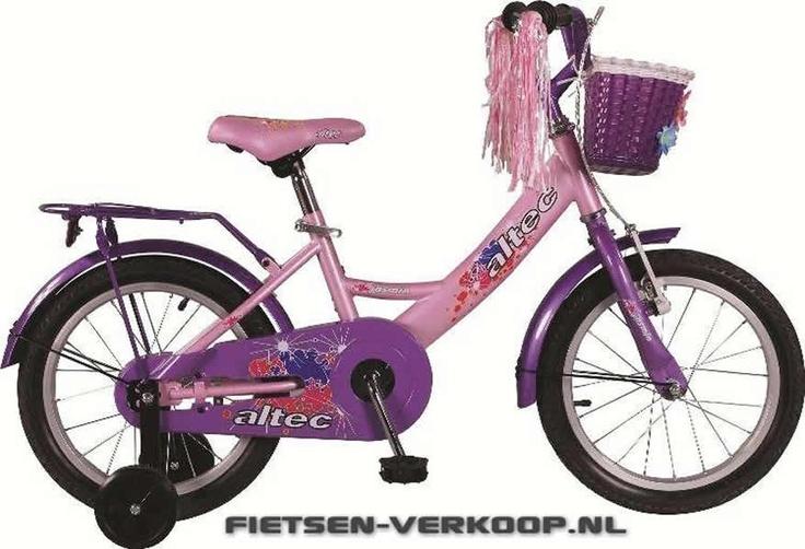Meisjesfiets Altec Jasmin 16 Inch | bestel gemakkelijk online op Fietsen-verkoop.nl