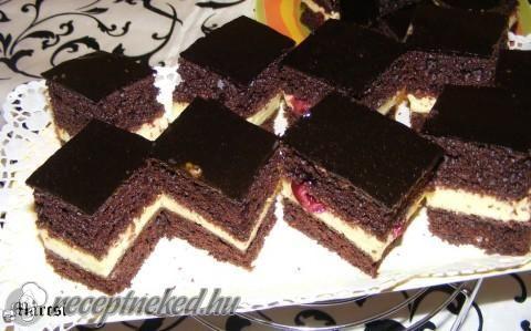 Meggyes csokis kocka recept fotóval