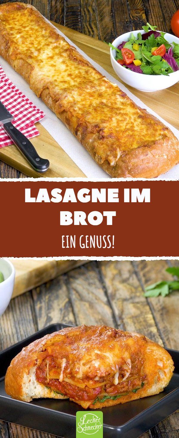 Lasagna in bread. A pleasure! #recipes #heartful #lasagne #bread # cheese    – Was koche ich heute Abend? Rezepte für Abendessen, Mittagessen, Hauptmahlzeiten