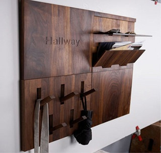 New inspiration: Modern and Compact Hallway Storage Solution Made of Wood by New Inspiration Home Design, via Flickr