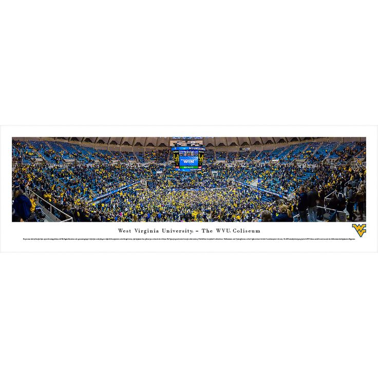 Worldwide Blakeway Panoramas West Virginia Basketball Framed Print