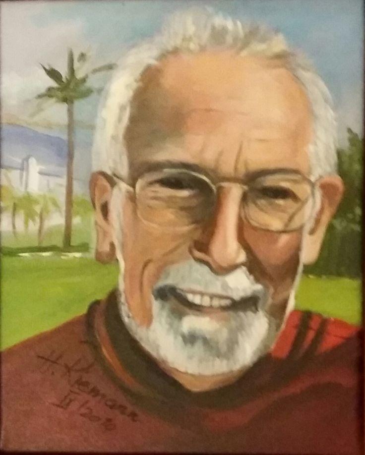 180_Ein_Portrait  Acryl, 24 x 30 cm