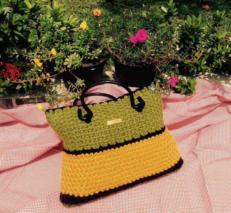 star crochet bag