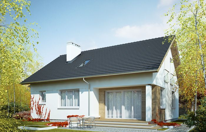 DOM.PL™ - Projekt domu FA Olimpia CE - DOM GC4-64 - gotowy projekt domu