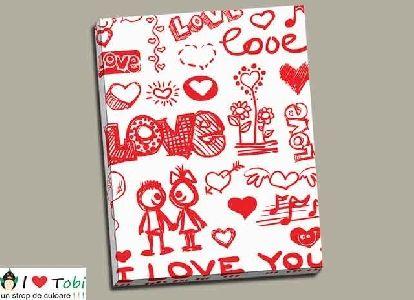 Tablou colaj I Love You - cod B26