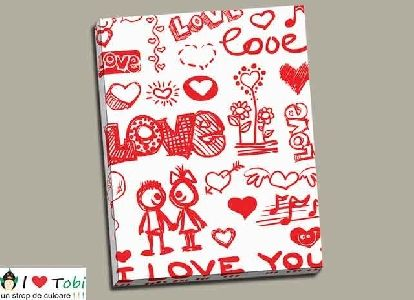 Tablou colaj I Love You - cod B26