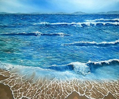 Seascape, painting, coastal,scene,ocean,waves,blue,rough,beautiful,images,contemporary,modern,wall,art,awesome,cool,artwork,for,sale,home,office,decor,oil painting,nature,sea,beach,shore,sandy,splashing,crashing,breaking,lace,items,ideas, fine art america