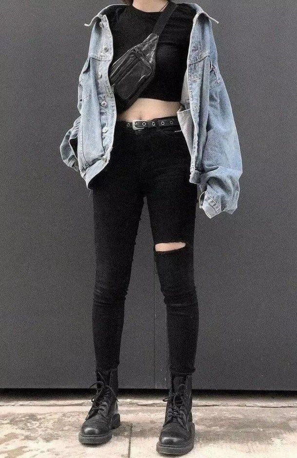 15 ways to look stylish wearing grunge outfits 23