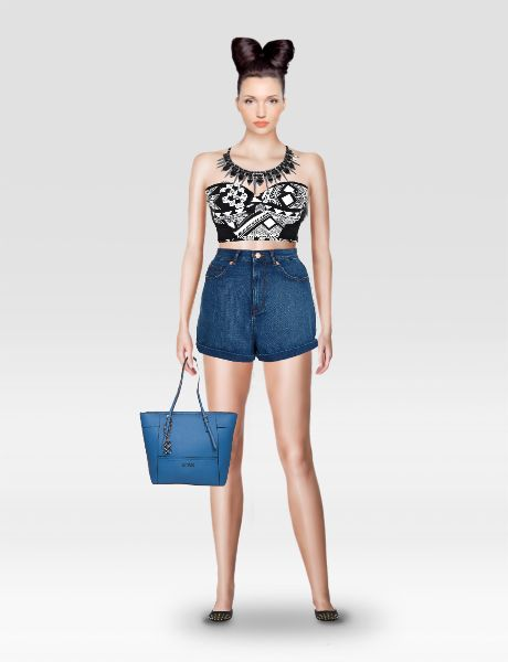 Look from latest collection of: Cubus, Guess, I Love Shoes, River Island, Topshop. GLAMSTORM.COM - virtual stylist.