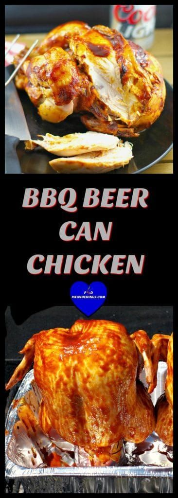 This BBQ Beer Can Chicken (also known as beer butt chicken) with Molasses Beer BBQ sauce is moist and juicy, making it the perfect Father's Day dinner!