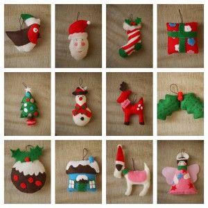 felt Christmas decorations, Cath Kidston - Gingerbread House blog