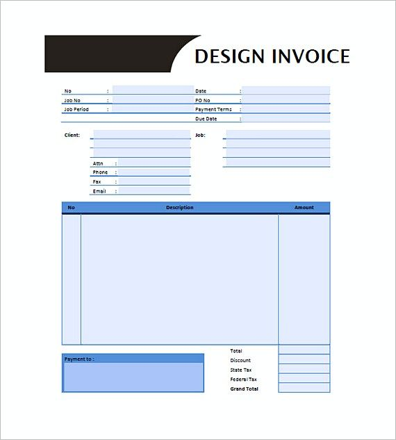 577 best invoice template images on Pinterest Invoice template - sample proforma invoice