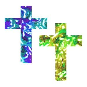 Make A Window Cling Cross - Explain the season of Lent as you show the kids how to Make A Window Cling Cross to decorate their windows and mirrors. Easy craft for the kids to make.