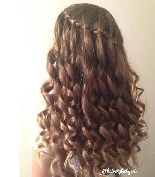 twist and curls hairstyles : Waterfall Twist with curls Danelles ideas Pinterest