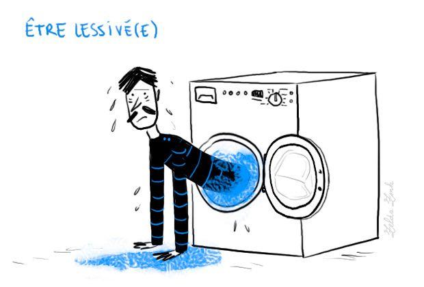Être lessivé, épuisé, très fatigué