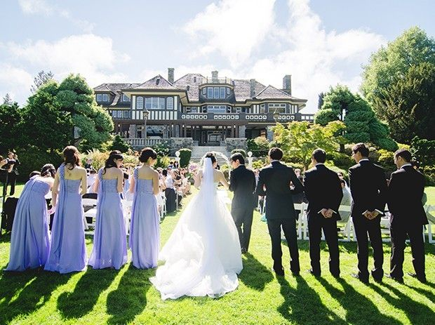 Cecil Green Park House is a Vancouver-based venue that specializes in hosting wedding celebrations and other special events. This heritage mansion boasts stunning views of the mountains and is set by the ocean. This property is ideal for outdoor