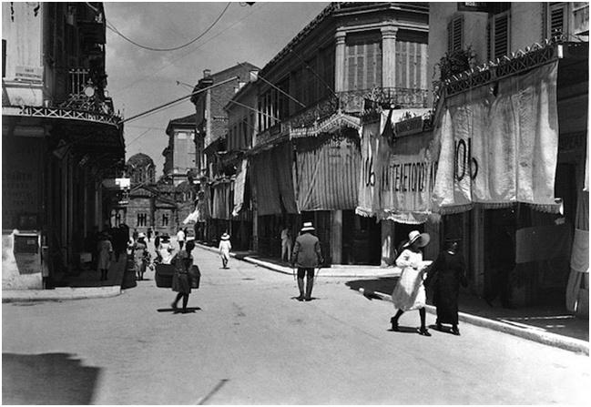 Αθήνα, οδός Ερμού 1920,     François Frédéric (Fred) Boissonnas (1858-1946)