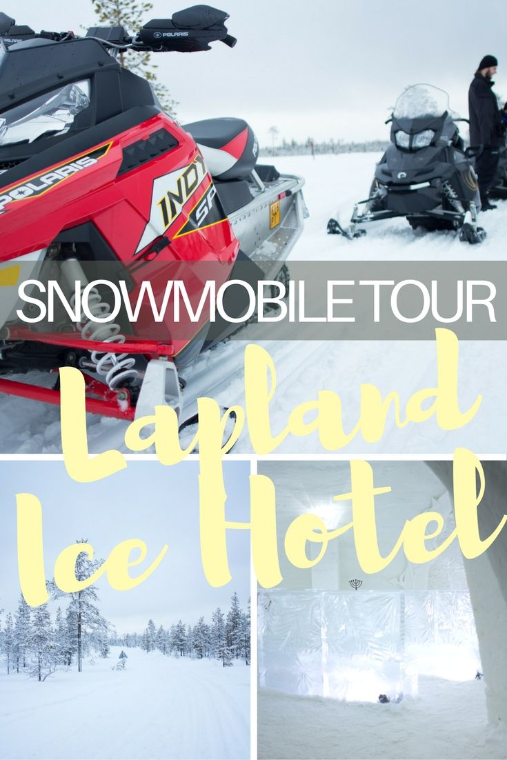 Snowmobile Tour Through The Wintery Landscape of Lapland