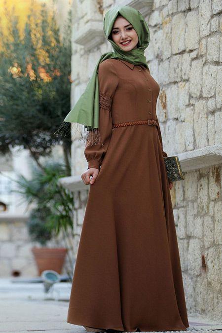 Gamze Polat Taba Retro Elbise