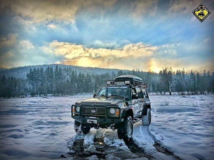 Nissan Patrol in the snow