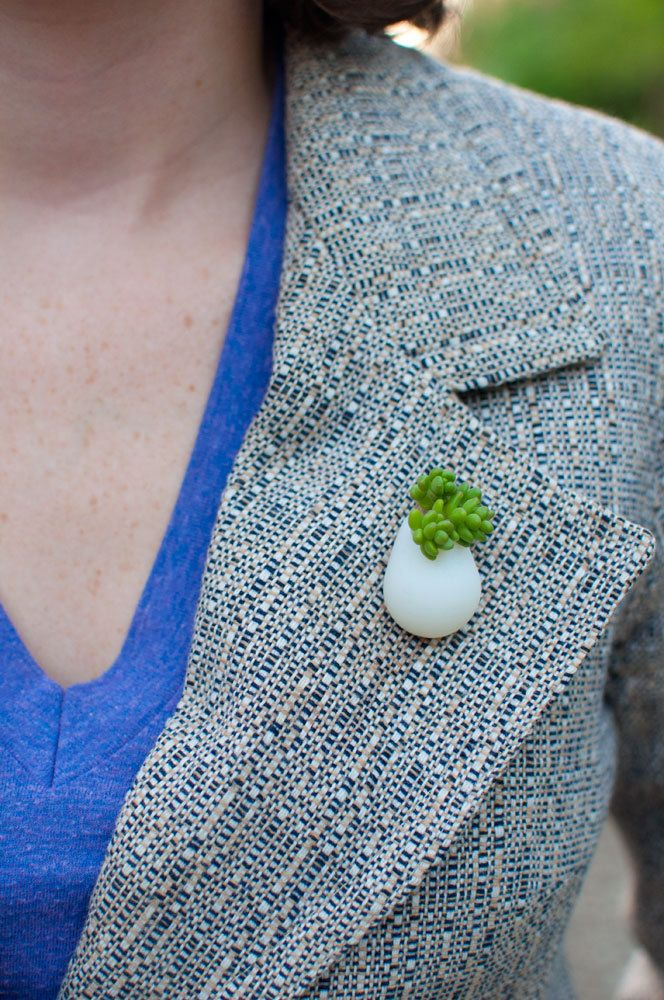 Wearable Planter No 6 Lapel Pin by wearableplanter on Etsy, $35.00