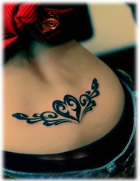 Heart Shape Pattern Lower Back Tattoo For Girl | tattoos picture lower back tattoo