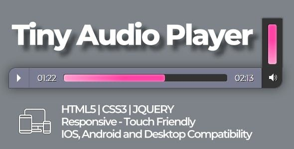 Tiny audio player fully customizable with HTML5|CSS3|JQUERY