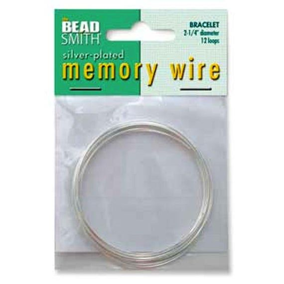 Silver Plated Stainless Steel Memory Wire 12 Turns 2 25 Diameter For Bracelets Memory Wire Bracelets Wire Jewelry Making Wire Jewelry