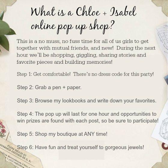 Chloe & Isabel pop-up. Contact me for details! https://www.chloeandisabel.com/boutique/colettenath#50604