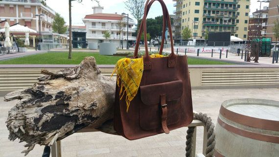 You can find more pictures here https://www.facebook.com/MrArtigiano/   Top quality, Italian leather handbag. Each bag is designed, cut and sewn by
