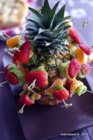 Comment présenter des brochettes de fruits? - Recette- Marcia Tack