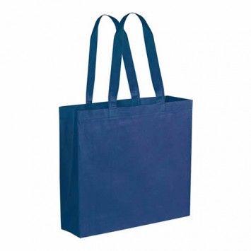 Shopper con soffietto TNT f.to 38 x 34 x 10 cm manici corti personalizzata