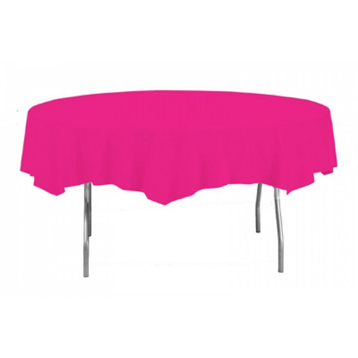 round plastic tablecovers hot magenta pink round table wholesale wedding supplies discount wedding favors party favors and bulk event supplies - Discount Table Linens