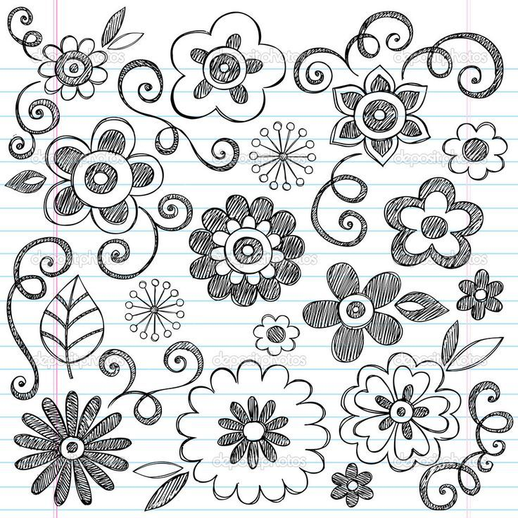 Pretty flower designs to draw on paper selol ink pretty mightylinksfo