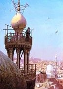 """New artwork for sale! - """" A Muezzin Calling From The Top Of A Minaret The Faithful To Prayer by Gerome JeanLeon """" - http://ift.tt/2kBJLgv"""