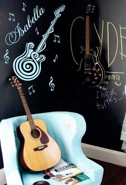 Pas cher Bricolage guitare instrument de musique personnaliser nom les enfants porte de la salle de Stickers muraux accueil Art Quote vinyle Stickers décoration de la maison, Acheter  Autocollants muraux de qualité directement des fournisseurs de Chine:                  Caractéristiques de l'objet       :                             Taille: 76 cm x 33