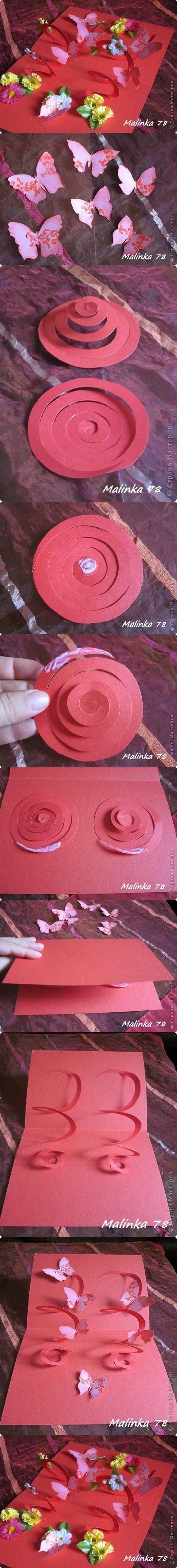 DIY 3D Butterfly and Flower Card | iCreativeIdeas.com Like Us on Facebook ==> https://www.facebook.com/icreativeideas