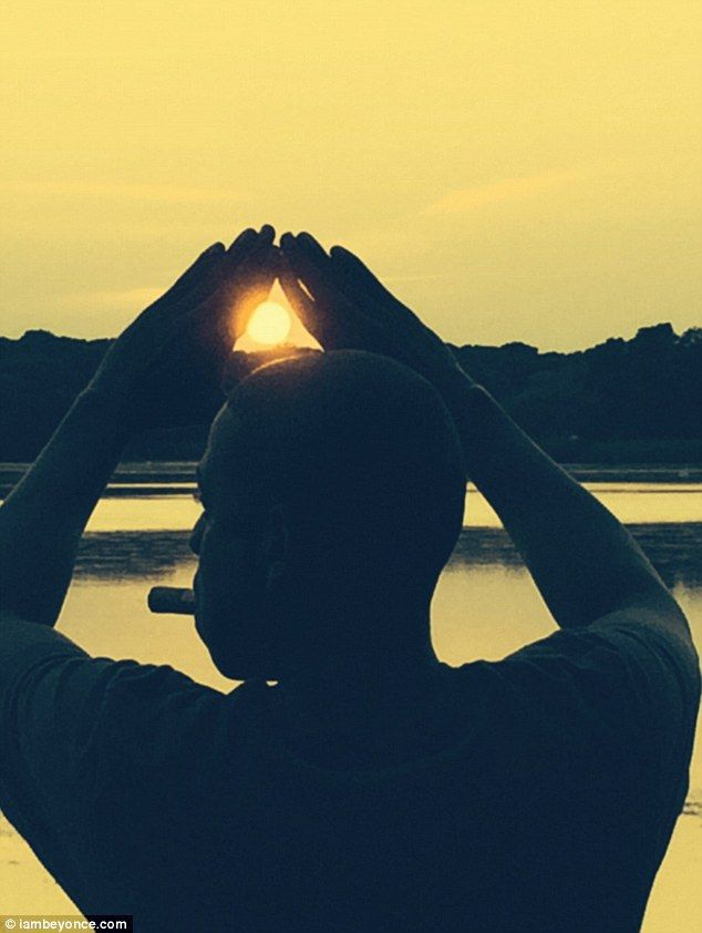 Paradise found: The songstress shared this snap of Jay Z pictured in silhouette from behin...