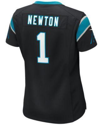 Nike Women's Cam Newton Carolina Panthers Game Jersey - Black M
