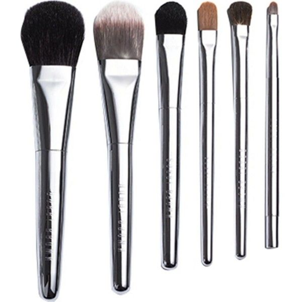 BOBBI BROWN Travel Brush Set found on Polyvore featuring beauty products, makeup, makeup tools, makeup brushes, eye shadow brush, set of makeup brushes, shadow brush, blending brush and set of brushes