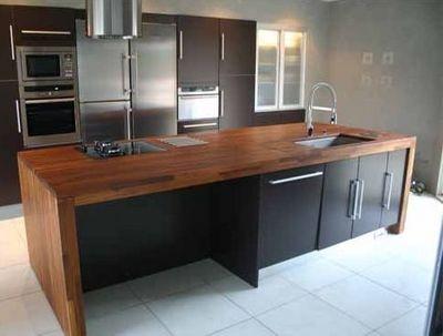 17 best images about cuisine on pinterest solid wood for Dimension plan de travail