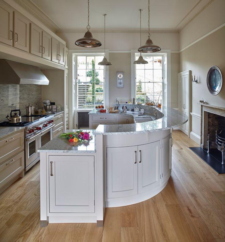Beautiful Curved Kitchen island Units