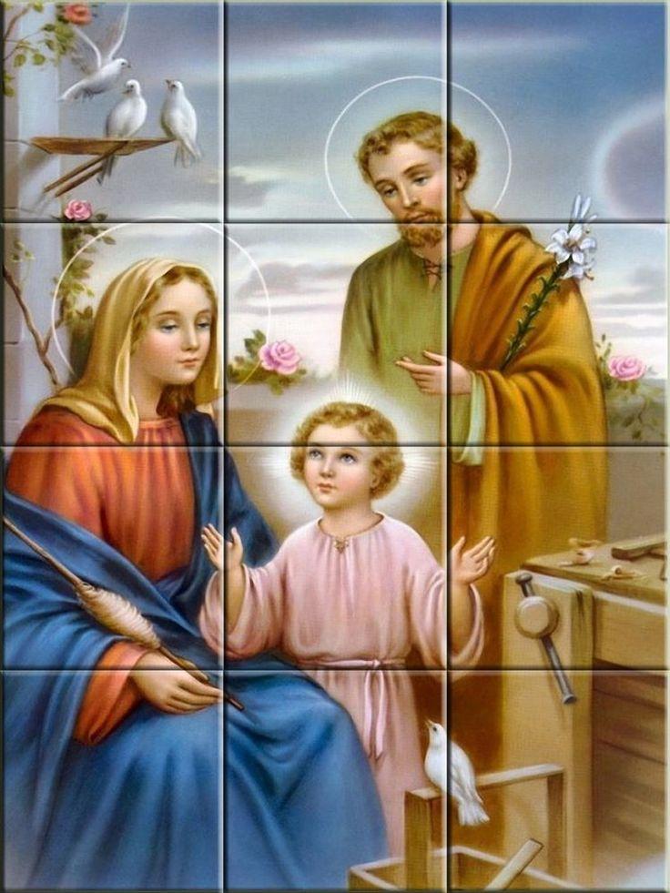 The Holy Family Religious Decorative Ceramic Tile Murals