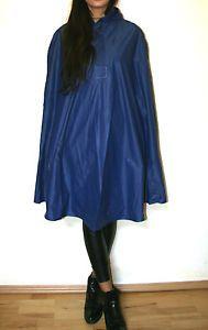 PVC-Regen-Mantel-Blau-XL-Regencape-Blogger-Oversize-Hipster-Uberwurf-Boho-Gummi