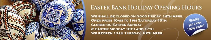 Easter Bank Holiday Opening Times and Second Hand Offers