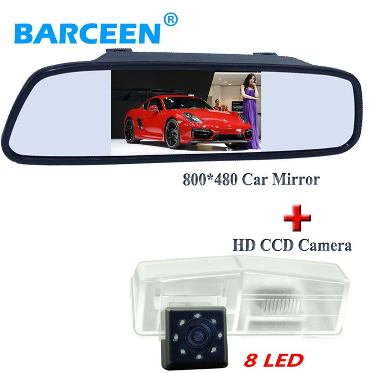 "Supply from stock auto car rearview camera wtih black 4.3"" color car mirror monitor 2 in 1 apply for Toyota RAV4"