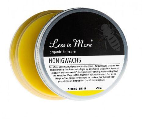 Honey Wax är ekologiskt hårvax skapad av frisörer för en giftfri hårvård i toppklass. Passar alla hårtyper och långt hår, från Less is More hos vitavera.se