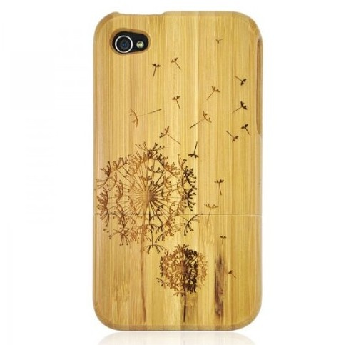 Bamboo Carved Dandelion iPhone Case Cover for iPhone 4/4S/5 - iPhone 5 Cases