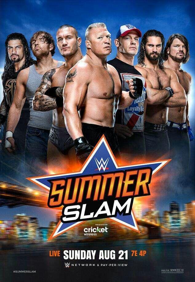 SummerSlam Roman Reigns Dean Ambrose Randy Orton Brock Lesnar John Cena Seth Rollins & AJ Styles