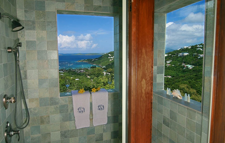 Villa South Palm, St. John - al fresco shower!: Fresco Shower